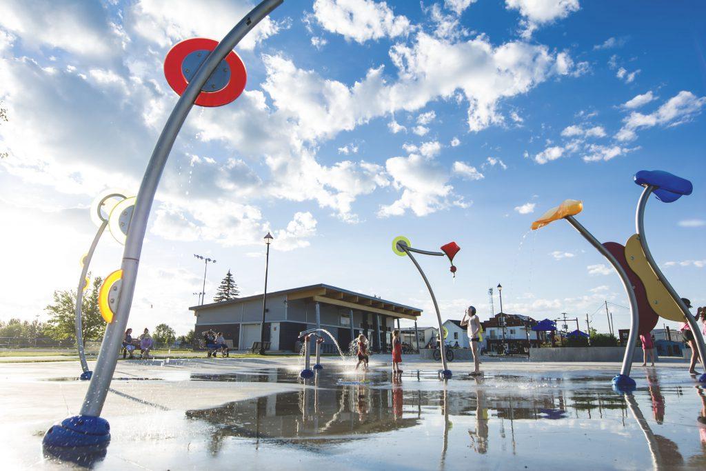 Jeux d'eau de la ville de Malartic